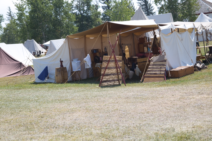 The encampment, at least today's version
